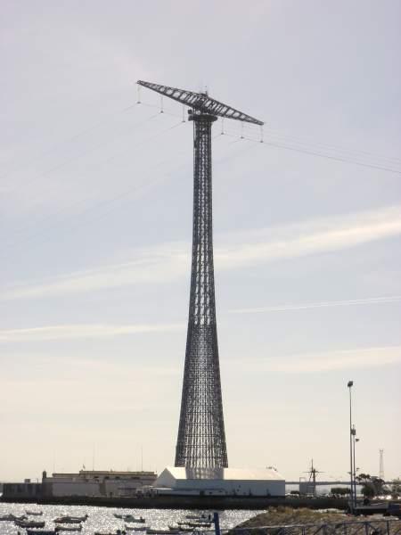 Torres de alta tensión en Cádiz