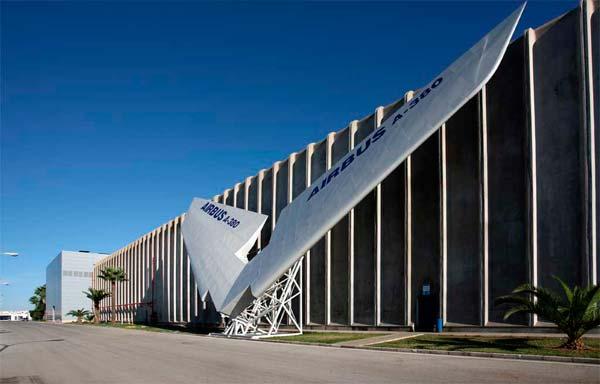 El timón trasero del A380 en la planta de Puerto Real
