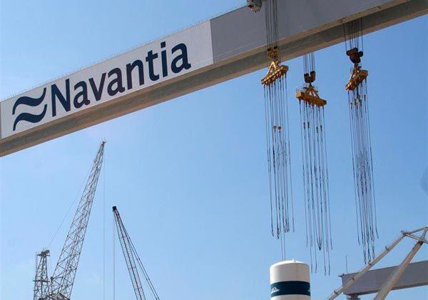 Pórtico de Navantia en Puerto Real