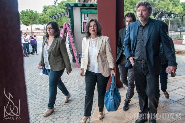 Peinado entrando en el Juzgado de Puerto Real.