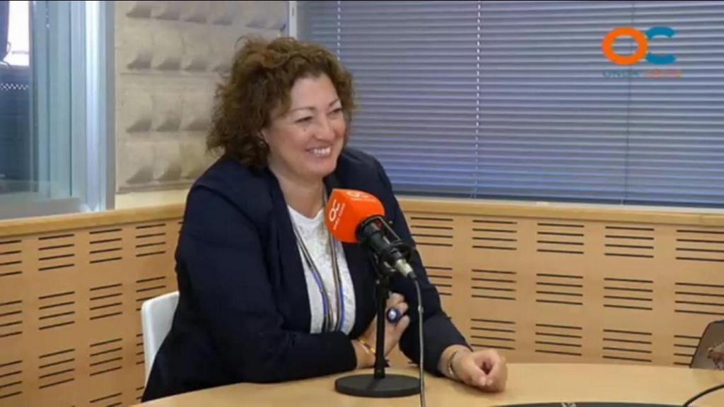 Margarita Cossi en una entrevista en Onda Cädiz