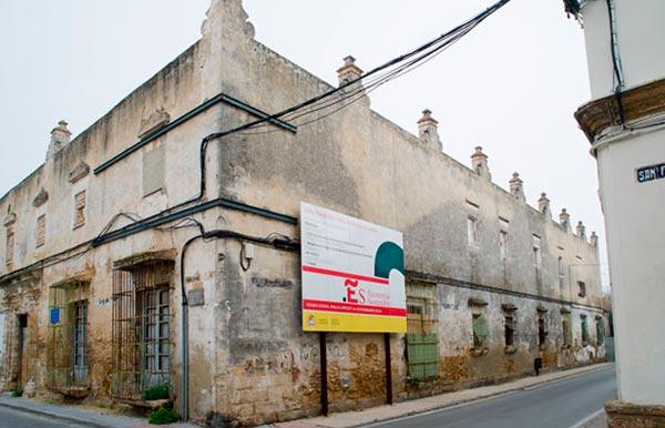 Casa de las Columnas de Puerto Real, en recuperación.