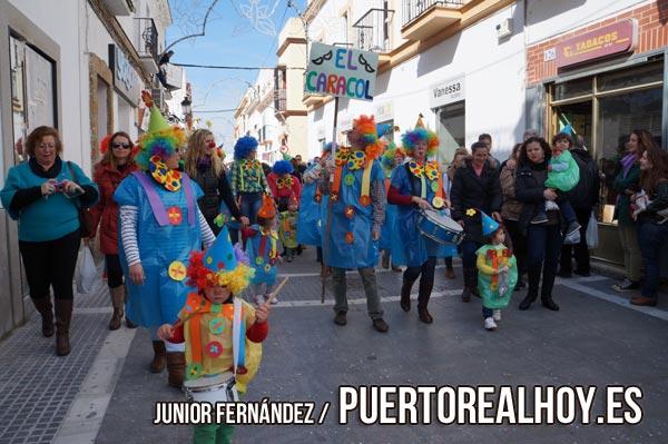 Pasacalles escolar de Puerto Real por la Calle de La Plaza