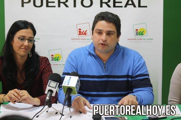 José Alfaro, portavoz de IU en el Pleno de Puerto Real.