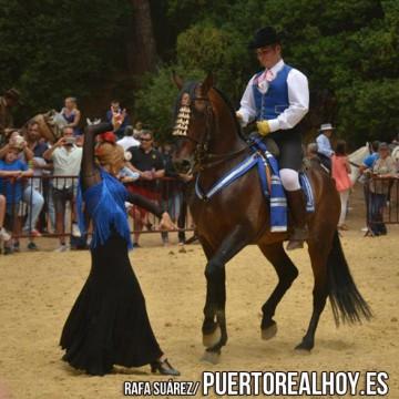 Acto del programa ecuestre de la Feria de Puerto Real.