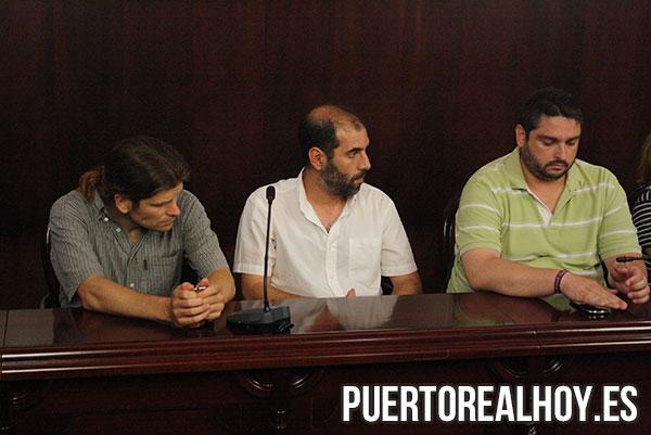 Iván Canca (EQUO), Antonio Romero (Sí Se Puede Puerto Real) y José Alfaro (Izquierda Unida)