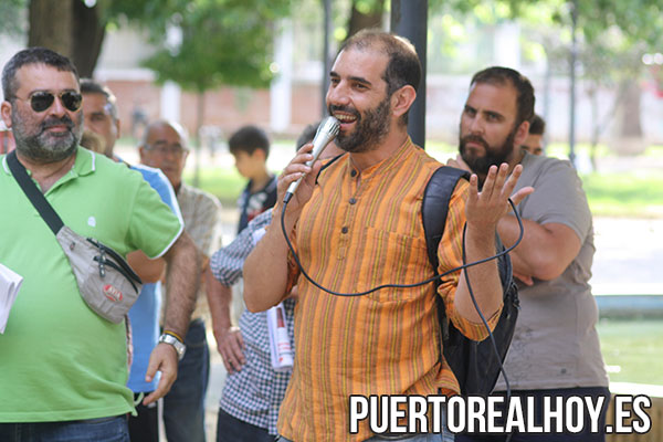 Romero, durante una Asamblea de Sí Se Puede en El Porvenir.