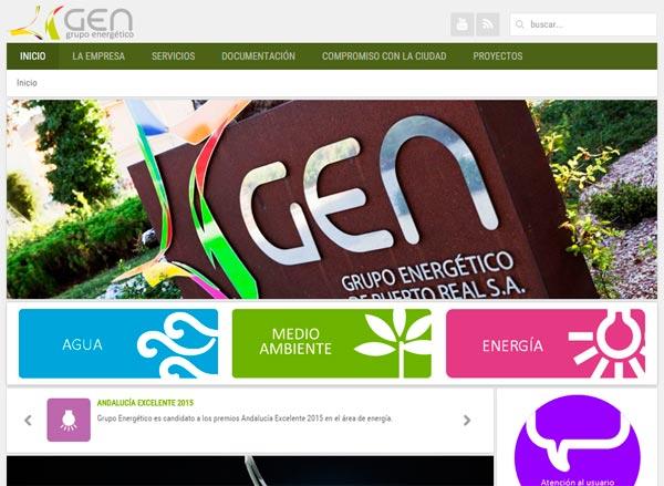 El gen presenta su renovada p gina web puerto real hoy for Oficina virtual del cliente iberdrola