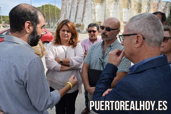 José Manuel Candón con Antonio Romero y el ex Delegado de Educación en Cádiz, Juan Luis Belizón.