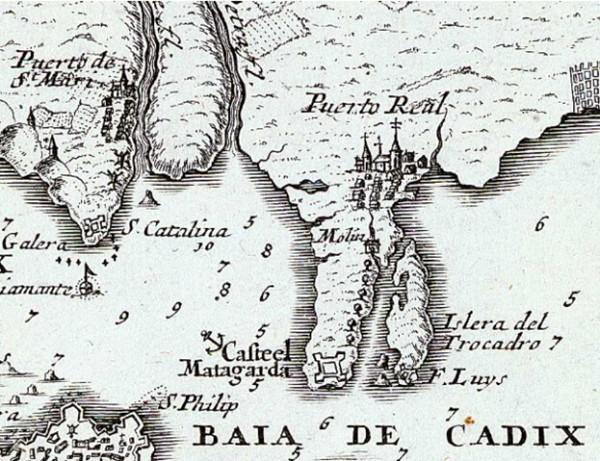 Mapa de la Isla del Trocadero.