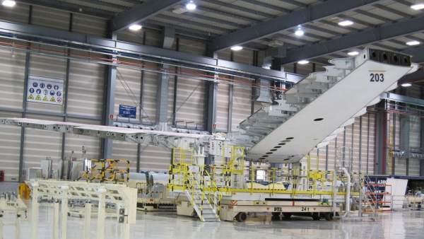Imagen interior de la planta de Airbus en Puerto Real