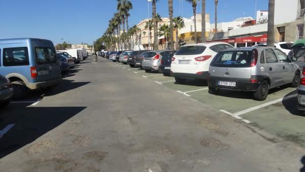 Bolsa de aparcamiento del Pabellón Municipal.