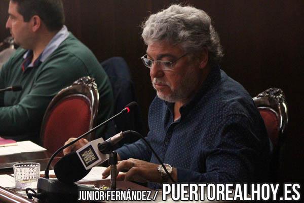 Andrés Rodríguez durante un Pleno