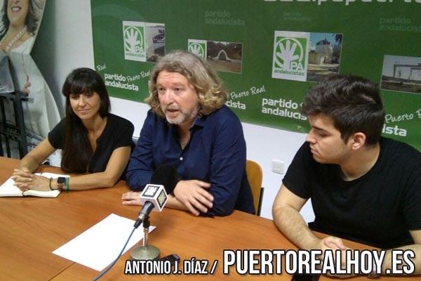 Jesús Plaza en rueda de prensa en sede Andalucista