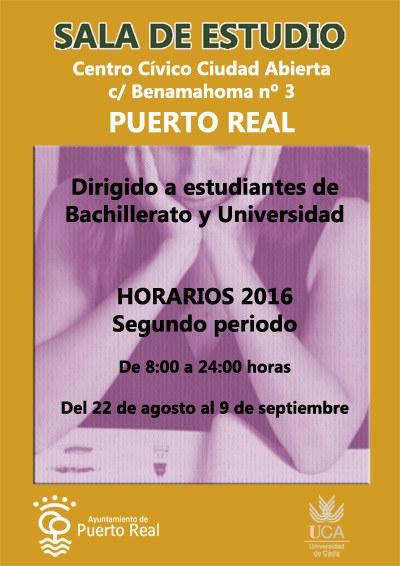 La sala de estudios del centro c vico ciudad abierta for Horario correos puerto real