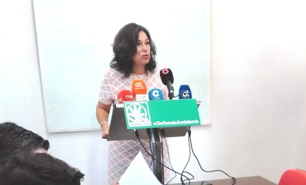 Maribel Peinado, en una rueda de prensa