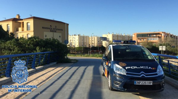 Coche de la Policía Nacional en Puerto Real
