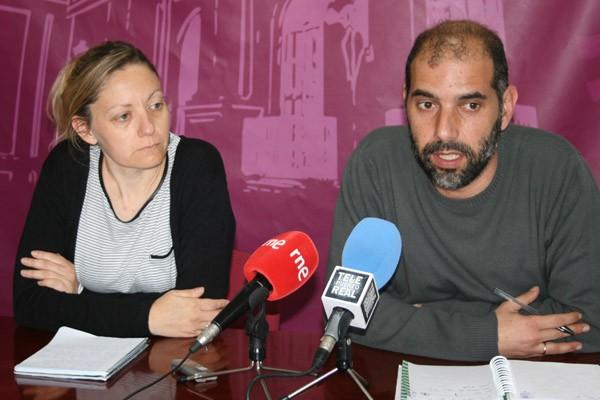 Antonio Romero y Fátima Pontones, en Rueda de Prensa