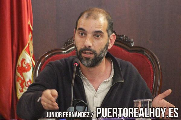 Antonio Romero durante un pleno del Ayuntamiento