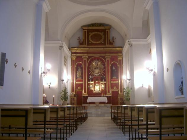 Interior de la Iglesia de La Victoria.