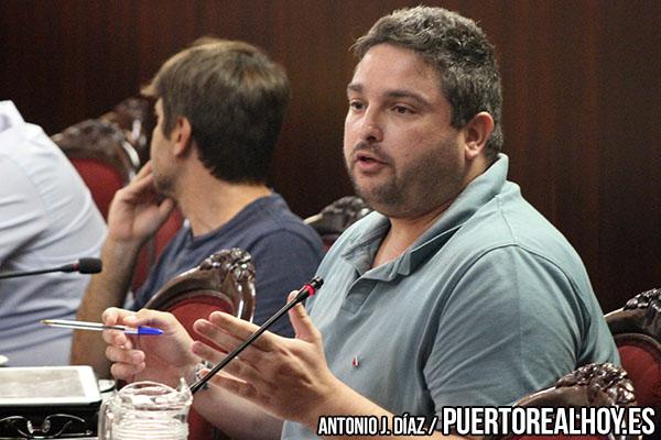 José Alfaro durante el Pleno del mes de Septiembre