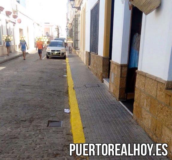 Zona prohibida de aparcamientos en la Calle Soledad.
