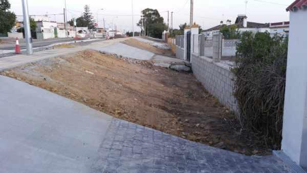 Obras en la Nacional IV del Barrio Jarana