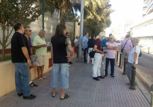Ex trabajadores de Delphi en los Juzgados de Cádiz