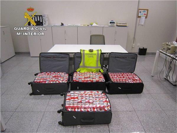 Cajetillas de tabaco intervenidas por la Guardia Civil