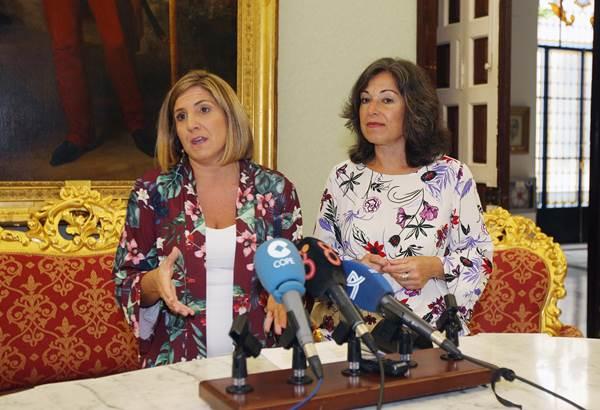Irene García y Maribel Peinado, en rueda de prensa
