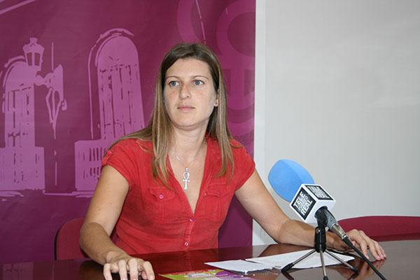 Mayte Sánchez en rueda de prensa