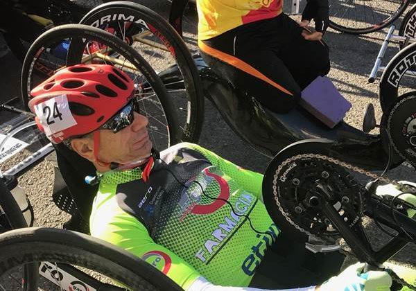 Manuel Fernández, en la Copa de España de Ciclismo Adaptado