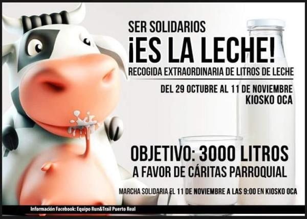 Recogida de Leche Solidaria 2018.