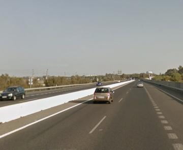 Autovía A4 a su paso por el Barrio Jarana en Puerto Real