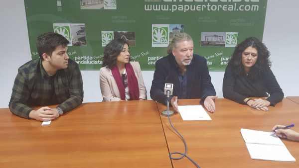 Rueda de prensa del Partido Andalucista de Puerto Real