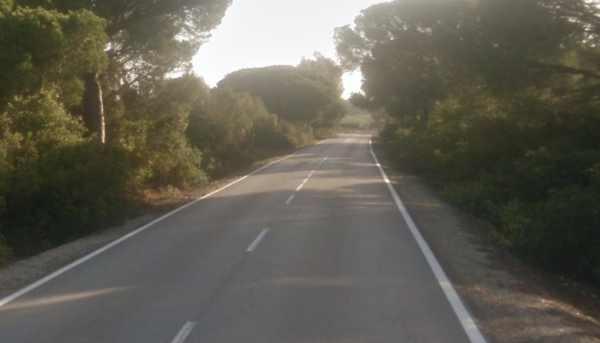 Carretera CA-3113 entre Puerto Real y La Ina (Jerez)