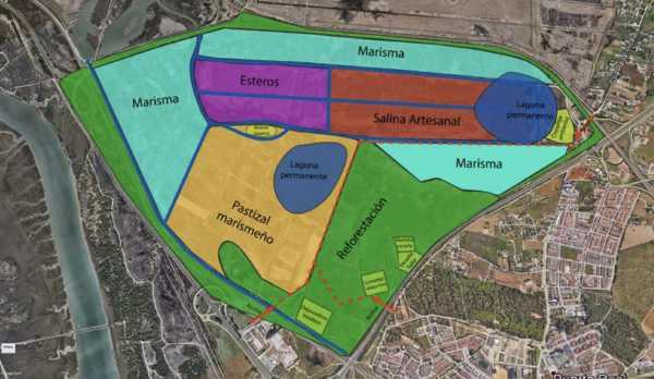 Mapa del Proyecto Las Aletas Real y Sostenible