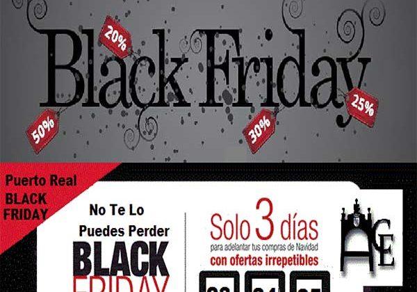 Cartel del Black Friday de ACE Puerto Real