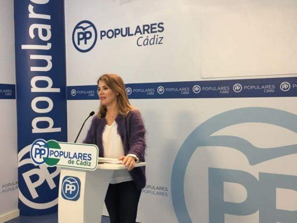Ana Mestre en rueda de prensa del PP