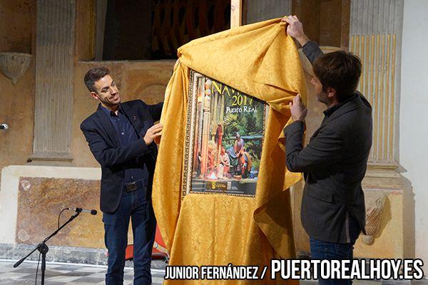 José María Rodríguez, presentando el cartel de Navidad en 2017.
