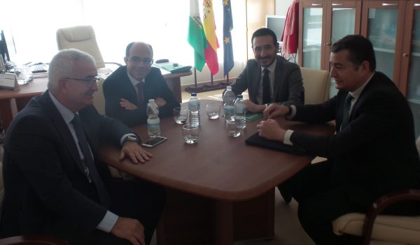 Barrios, López Gil y Sanz, reunidos