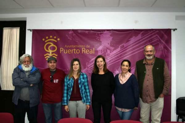 Mayte Sánchez con miembros de la Univ. Pol. de Madrid