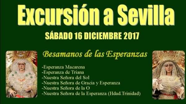 Cartel de Excursión a Sevilla de la Hermandad de La Borriquita