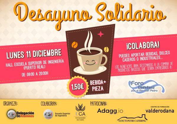 Desayuno Solidario en la Escuela de Ingeniería de Puerto Real