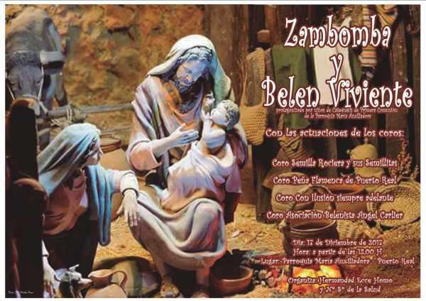 Cartel de Zambomba de la Hermandad del Ecce Homo