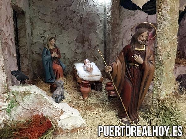 Nacimiento en un belén de Puerto Real
