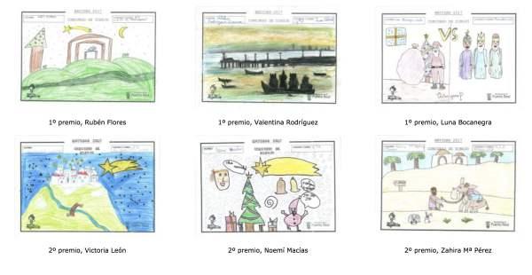 Dibujos ganadores del Concurso de Dibujo Navideño 2017