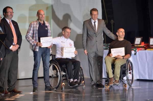Manuel Fernández en la Gala de Ciclismo de la Federación Andaluza