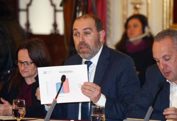 Jesùs Solís explicando los presupuestos de 2018