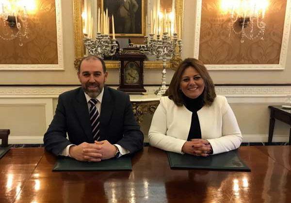 Jesús Solís y Elena Amaya en la Diputación de Cádiz